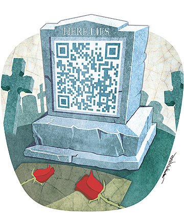 The digital afterlife: thinking about what happens to our online life when we die. Image  credit: Richard Parker/Stuff.co.nz